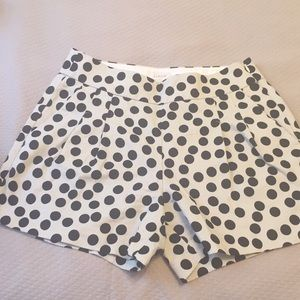 J.Crew  beige and black polkadot shorts. Size 0